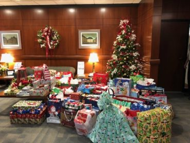 photo of our holiday gifts donated to safenet