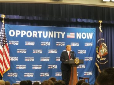 Photo of Former President Trump at 2019 Opportunity Zone conference