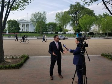 Tim Wachter at the White House April 2019