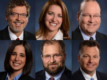 collage showing lawyers who spoke at IU4 seminar in 2018