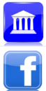 decorative icon collage showing municipal building icon and facebook icon